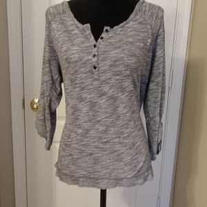 14/16 Lane Bryant 3/4 sleeve Henley shirt